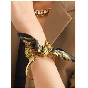 NIB Versace Medusa Printed Scarf Bangle Bracelet